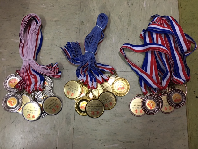 AC mega league 2015-16 weekday medals